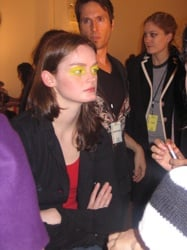 MAC backstage at Behnaz Sarafpour A/W 2008 Runway Show