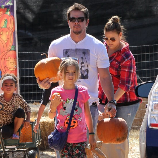 Mark Wahlberg and His Kids at a Pumpkin Patch 2013