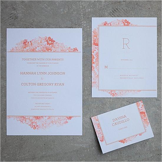 Petunia Watercolor Wedding Invitation