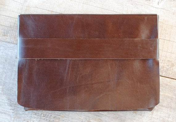 Reclaimed leather laptop sleeve ($60)