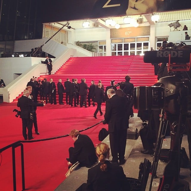 Photographers, all dressed in black-tie attire, lined the steps of the theater just minutes before the cast of The Rover arrived for their premiere.