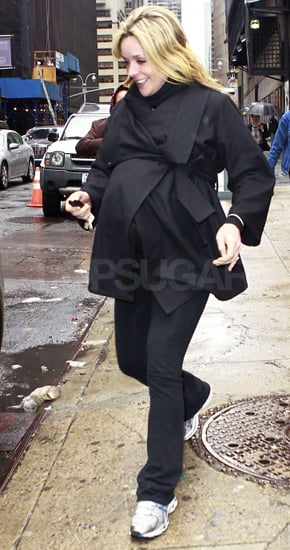 Jane Krakowski Goes on the Run With Her Baby Bump