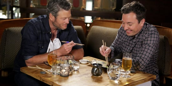 Blake Shelton Came Here To Forget About Eating Sushi With Jimmy Fallon