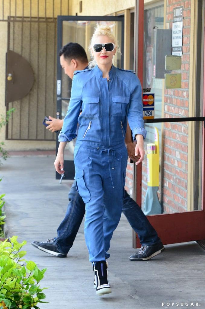 Gwen Stefani walked around LA in head-to-toe blue.