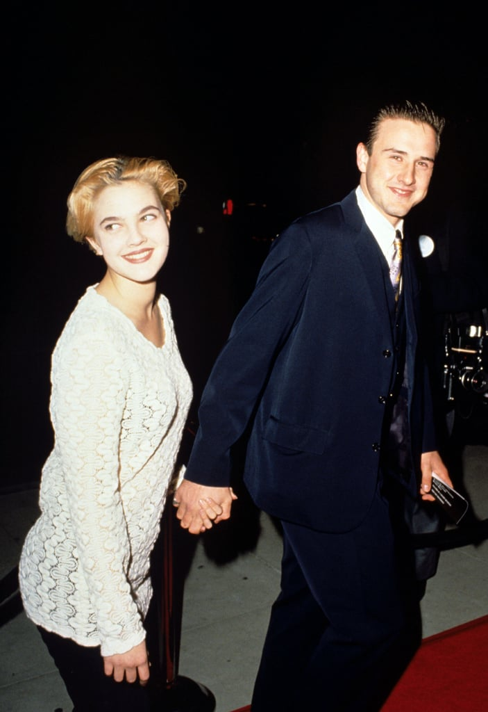 Drew Barrymore and David Arquette