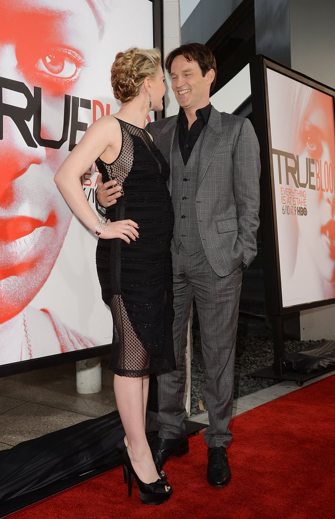 Anna Paquin and Stephen Moyer shared a cute moment on the red carpet.