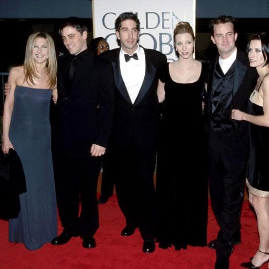 Jennifer Aniston, Matt LeBlanc, David Schwimmer, Lisa Kudrow, Matthew Perry, and Courteney Cox posed together at the 1998 show.