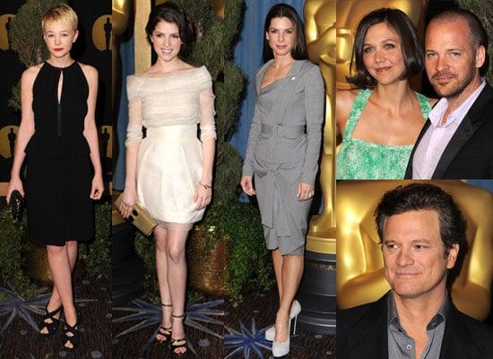 Photos of Sandra Bullock, Anna Kendrick, Carey Mulligan, Maggie Gyllenhaal, Peter Sarsgaard, Colin Firth at Oscar Nominee Lunch