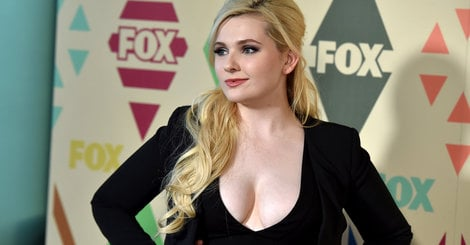 Abigail Breslin Wears A Plunging Dress To Fox's All-Star Party