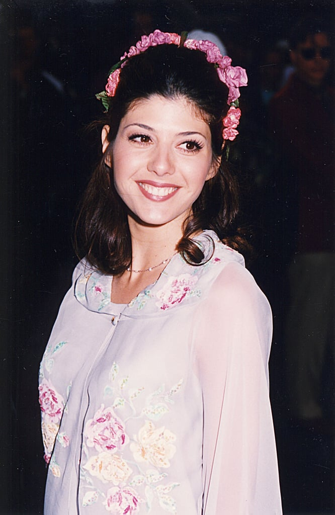 Marisa Tomei showed off a floral headband.