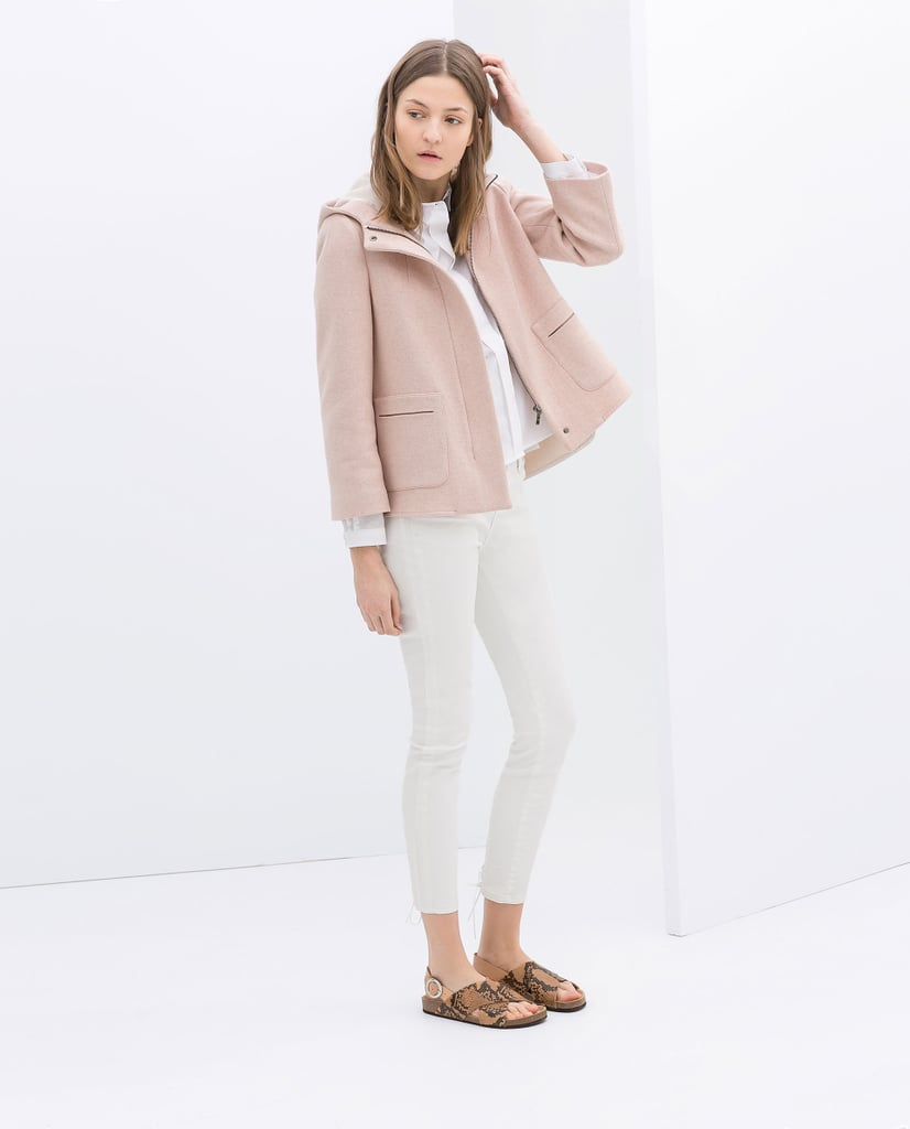 Short Wool Jacket With Hood ($119)