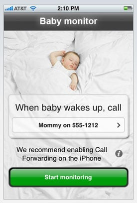 Mommy's Lil Helper: Baby Monitor For Your iPhone