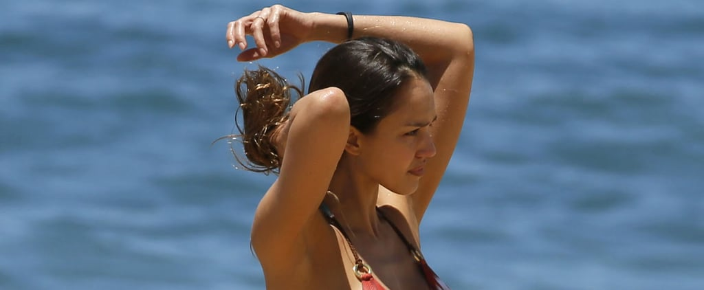 Jessica Alba Makes Her Hawaiian Beach Day Look Like a Slow-Motion James Bond Scene