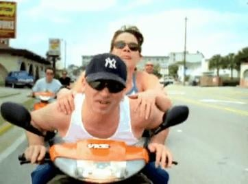 Do Hop on the Back of a Moped
