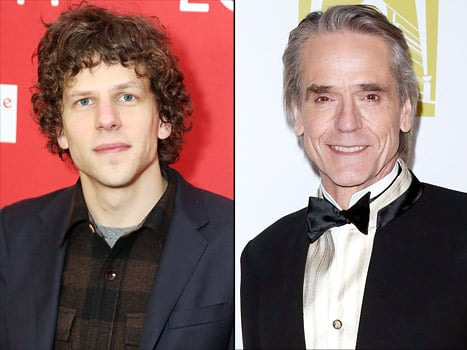 Jesse Eisenberg, Jeremy Irons Cast as Lex Luthor, Alfred in Ben Affleck's Superman/Batman Movie