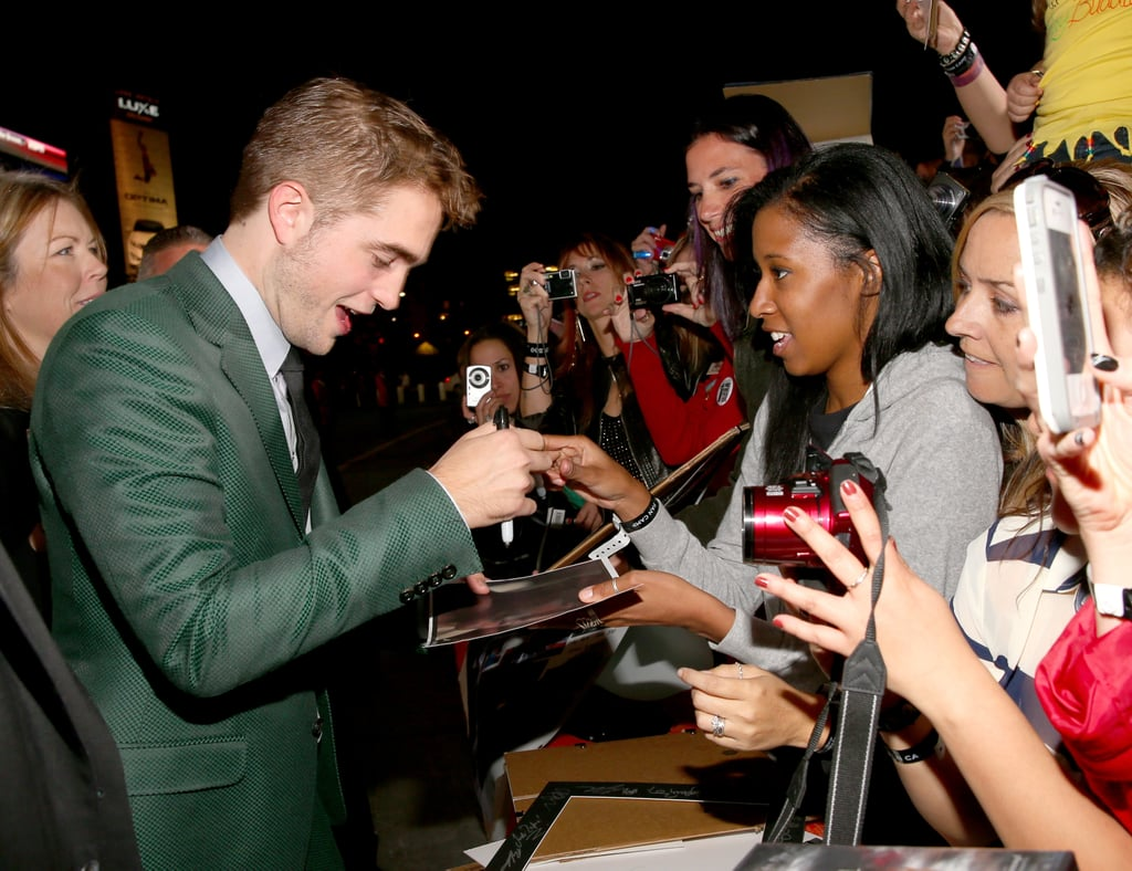 Robert Pattinson & fans