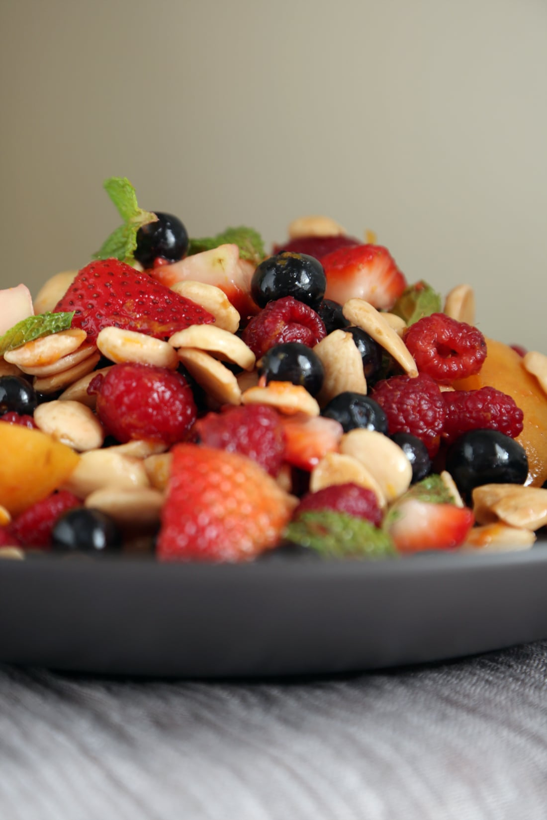 Summer Fruit Salad With Mint and Almonds