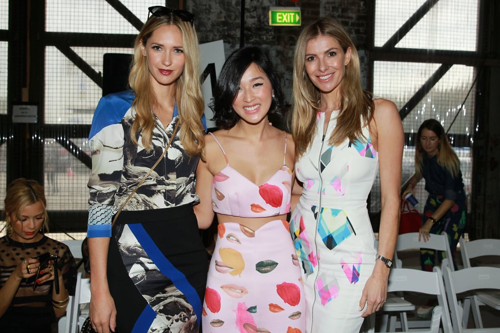 Nikki Phillips, Nicole Warne and Laura Csortan at MBFWA Day Five