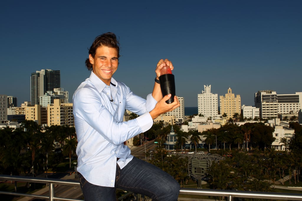 Photos of Rafael Nadal Launching Champions Drink Responsibly Campaign for Bacardi