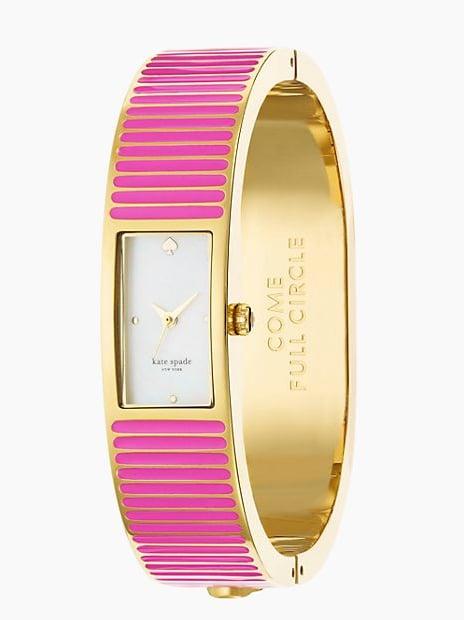 Kate Spade New York Come Full Circle Pink Carousel Bangle Watch ($125, originally $250)