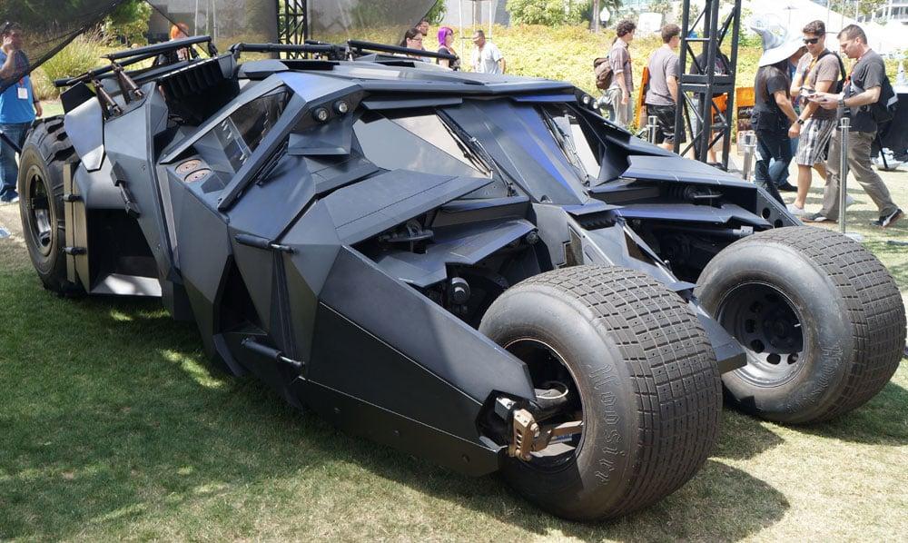 Christian Bale's Batmobile in Batman Begins and The Dark Knight.