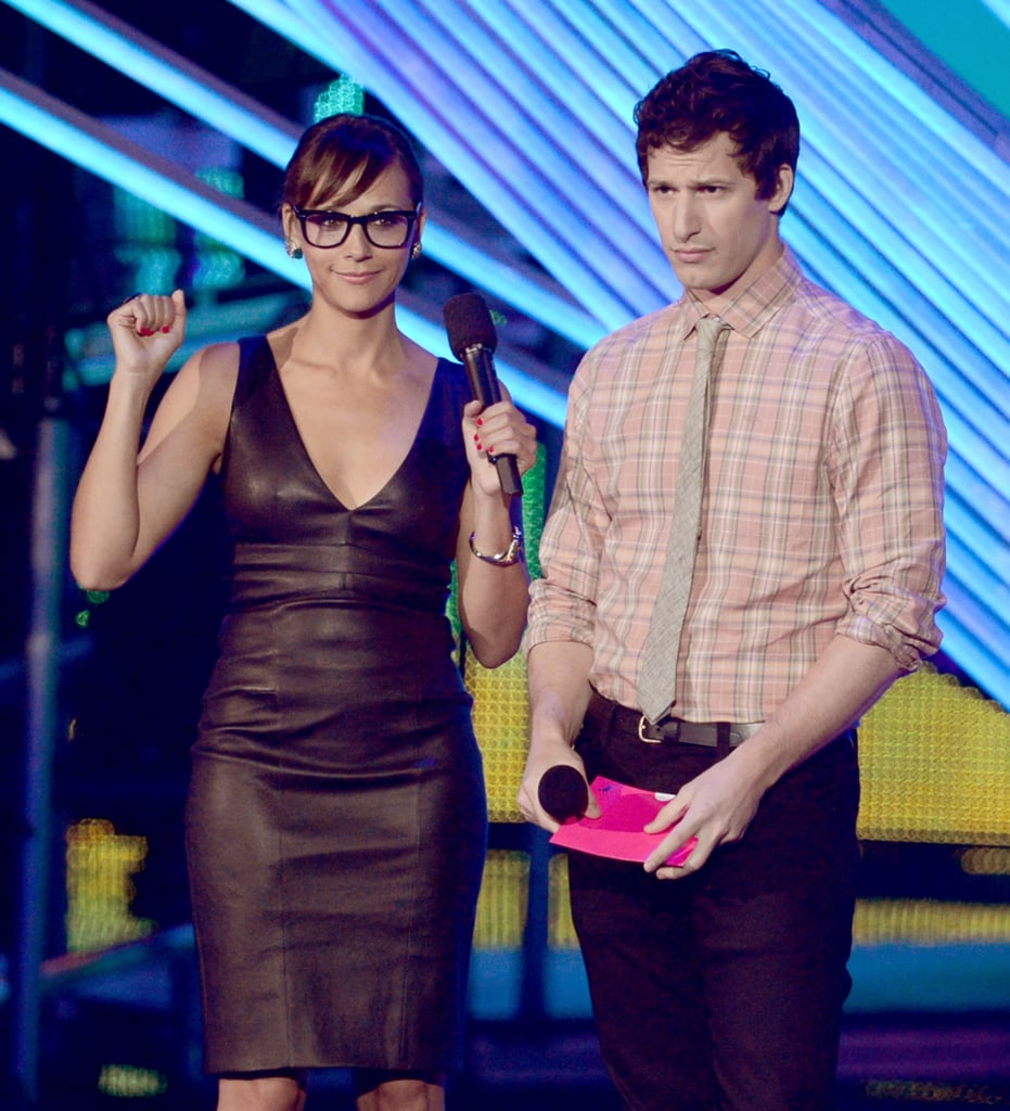Rashida Jones and Andy Samberg presented at the VMAs together.