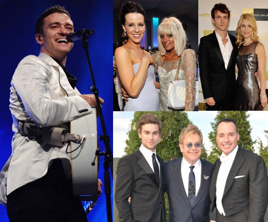 Photos of Lily Allen, Kate Beckinsale, Chace Crawford, Justin Timberlake at Elton John's White Tie and Tiara Ball