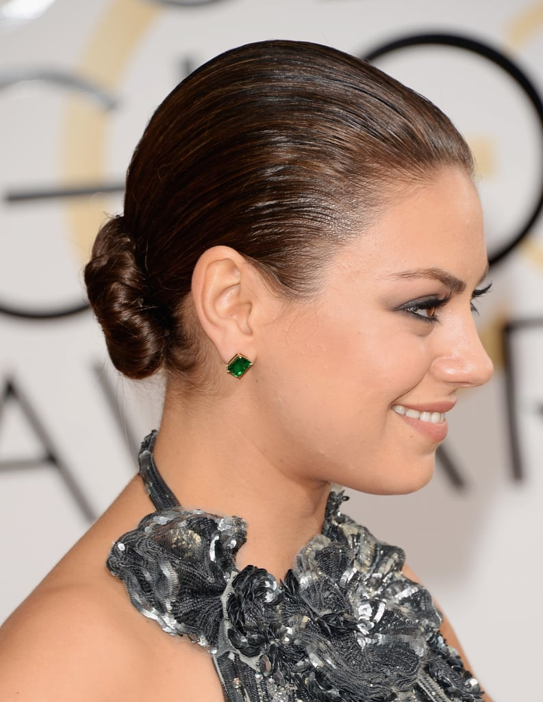 Mila Kunis picked a pair of emerald studs.