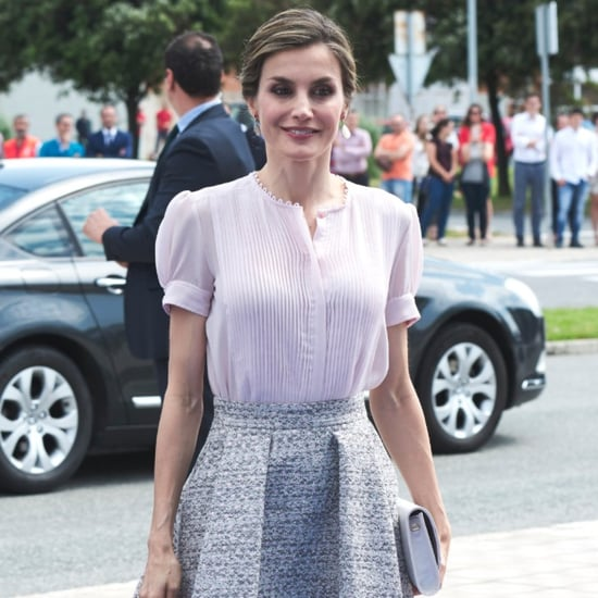 Queen Letizia's Hugo Boss A-Line Skirt June 2016