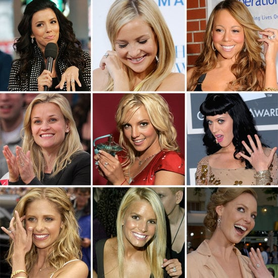 Pop put together 100 pics of the most gorgeous celebrity engagement rings.
