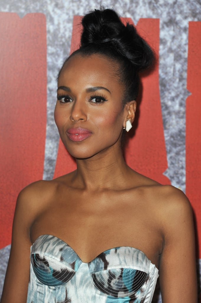 Kerry Washington's intricate knot is actually a strategically pinned bow design.