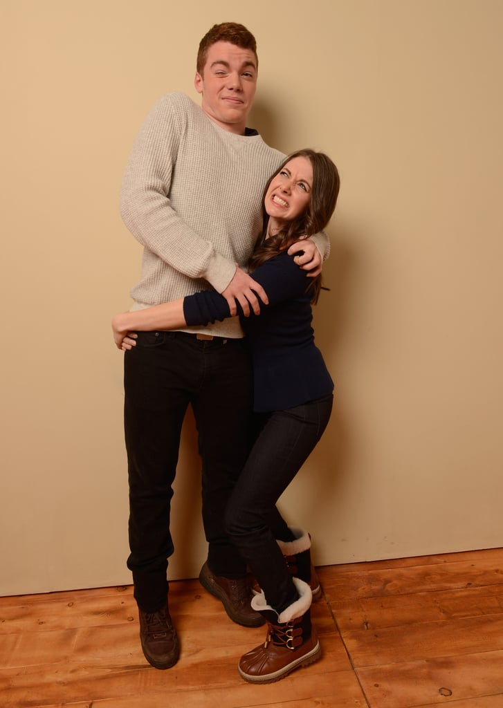 Toy's House actress Alison Brie practiced her lifting skills on co-star Gabriel Basso.