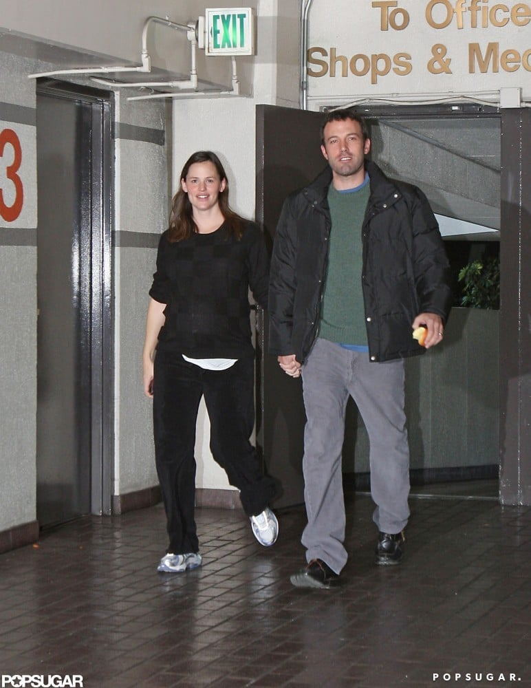 Ben Affleck escorted Jennifer Garner to a doctor's appointment just before she gave birth to Seraphina Affleck in January 2009.