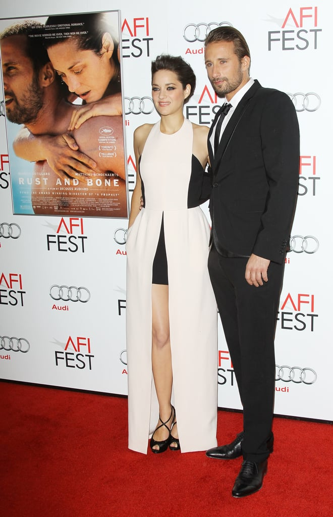 Marion Cotillard and her costar Matthias Schoenaerts made their way down the red carpet together.