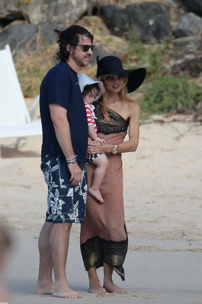 Rachel Zoe posed for a photo with Skyler and husband Rodger.