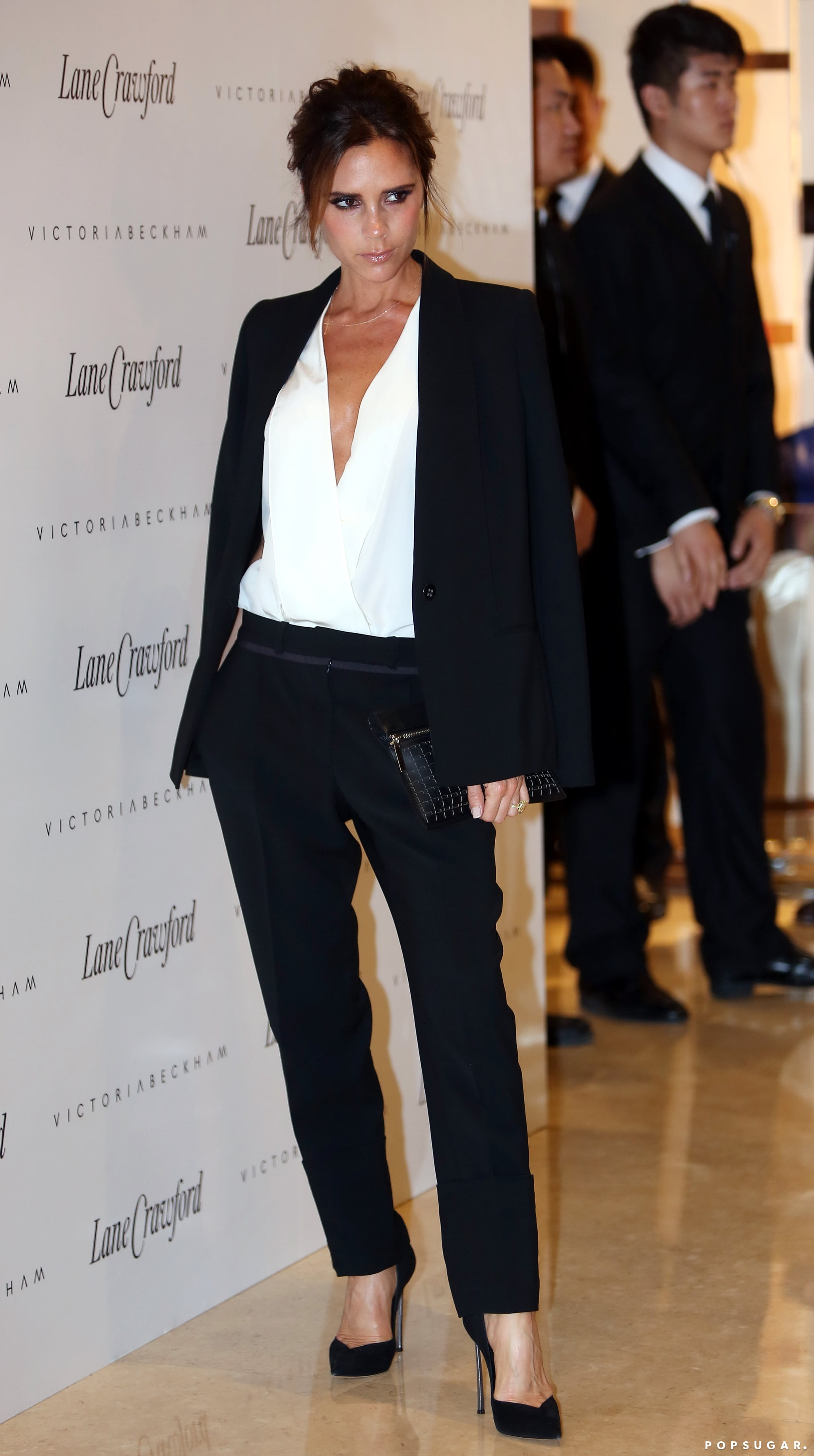 Victoria Beckham launched her fashion line at Lane Crawford in Beijing as one of her many stops during her China tour.
