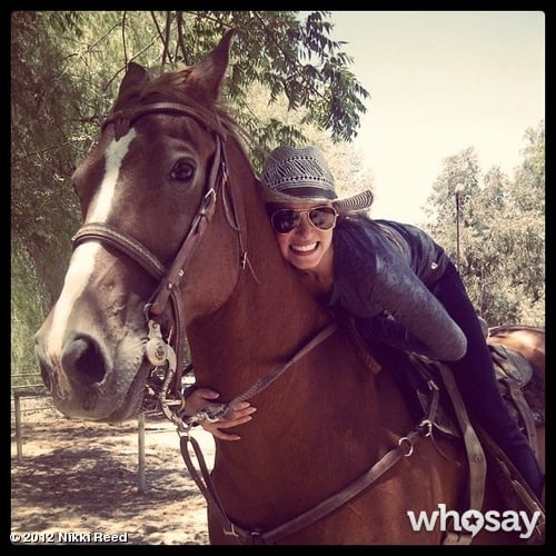 Nikki Reed spent time with her horse. Source: Nikki Reed on WhoSay