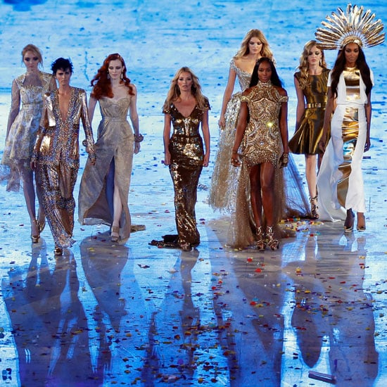 Kate Moss & Naomi Campbell Lead the Supermodel Pack on the London Olympics Closing Ceremony Catwalk Show!