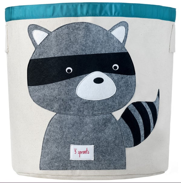 3 Sprouts Raccoon Storage Bin ($32)
