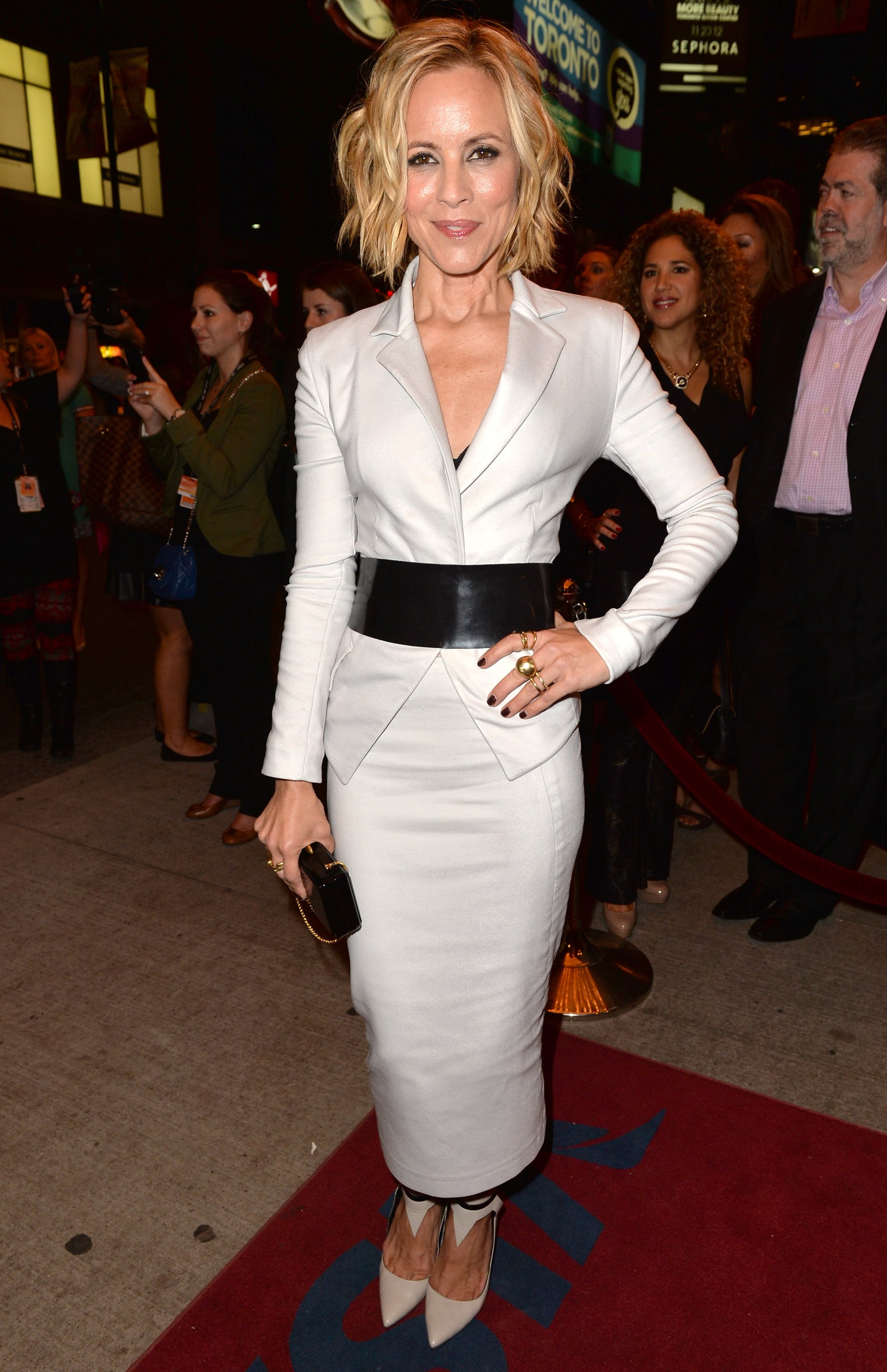 Maria Bello stepped out for the Third Person premiere.