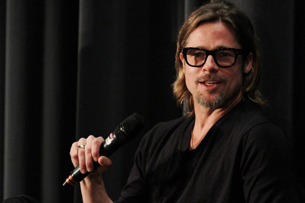 Brad Pitt took the floor at a Moneyball Q & A.