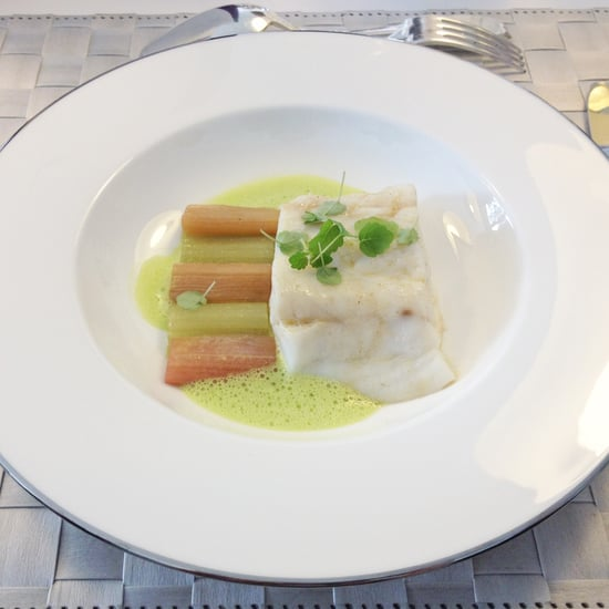 Sea Bass With Rhubarb and Celery