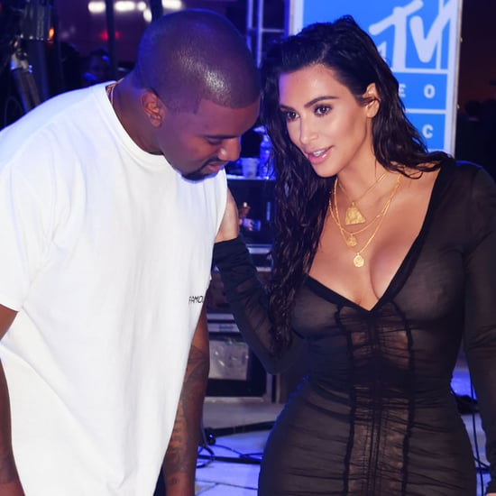 Kim Kardashian and Kanye West at 2016 MTV VMAs