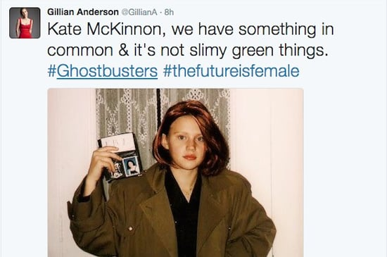 Gillian Anderson Tweeted An Adorable Photo Of A Young Kate McKinnon Dressed Like Dana Scully