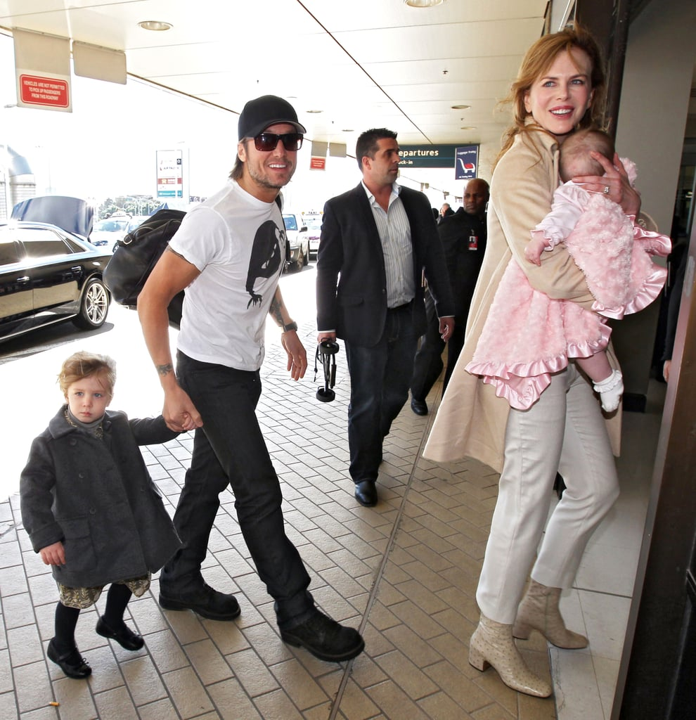 Nicole Kidman and Keith Urban carried Sunday and Faith in Australia.