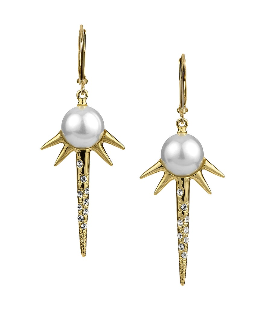 Sam Edelman Pearl and Spike Drop Earrings