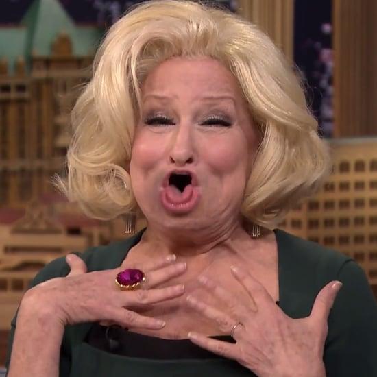 Bette Midler Lip Flip With Jimmy Fallon
