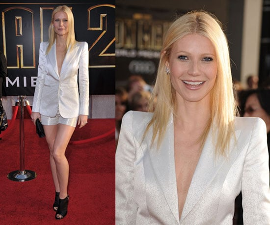 Gwyneth Paltrow Wears White Giorgio Armani Short Suit to Iron Man 2 Premiere