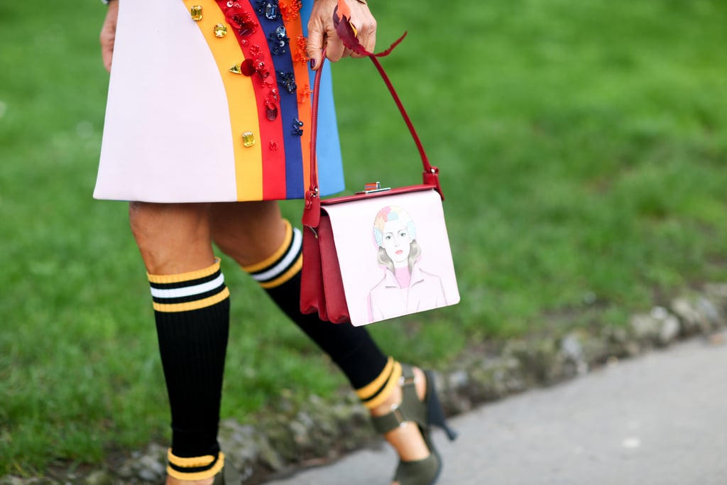 Anna Dello Russo's add-ons are always worth a second look.