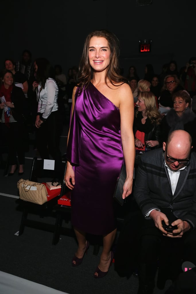 Brooke Shields wore purple for Son Jung Wan's show in NYC in February.